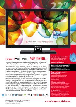 Karta katalogowa telewizora Ferguson V22FHD273