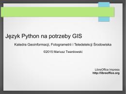 Język Python na potrzeby GIS
