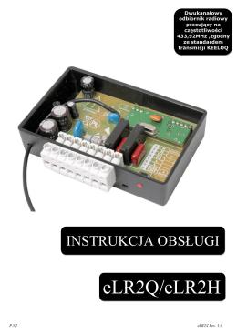 Dwukanałowy odbiornik radiowy eLR2Q/eLR2H