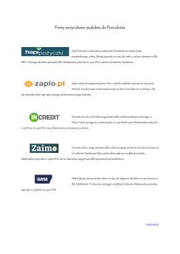 Firmy pożyczkowe podobne do Providenta