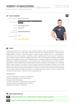 Trener Hubert Staniszewski | Kulturysta.com