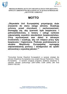 PROGRAM Aktywnie i Zdrowo-1 - Regionalne towarzystwo oświaty