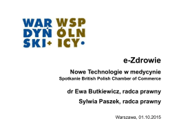 e-Zdrowie - British Polish Chamber of Commerce
