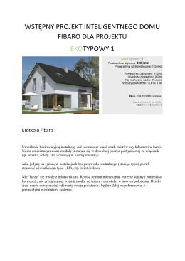 wstępny projekt inteligentnego domu fibaro dla