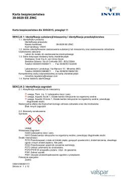 Karta bezpieczeństwa 39-0029 EE ZINC