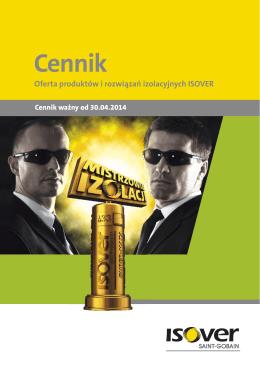 ISOVER Cennik 2014
