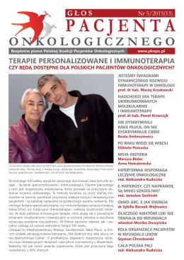 Gazeta Głos Pacjenta Onkologicznego 5/2015