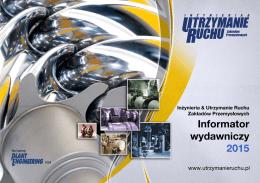 Informator wydawniczy 2015 - Inżynieria & Utrzymanie Ruchu
