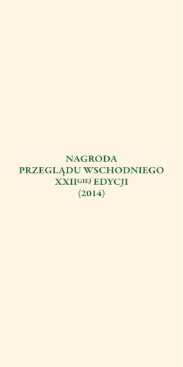 XXII Ed Laureaci i Laudatorzy