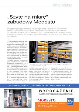 Pobierz artykuł w pliku  - Modesto