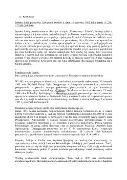 A. Rzepliński, Wyrok ETPCz - Sprawa Lüdi przeciwko Szwajcarii