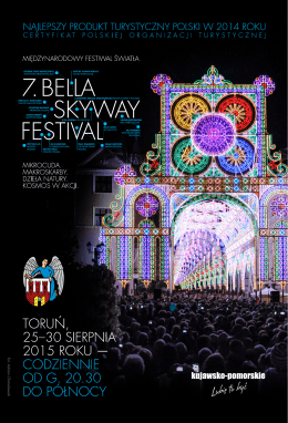the programme of Bella Skyway Festival 2015 in PDF