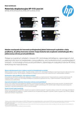 Materiały eksploatacyjne HP 410 LaserJet