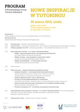 program - Fundacja Kolegium Tutorów
