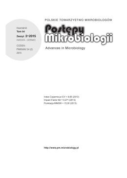 Zeszyt 2 - Postępy Mikrobiologii