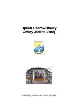 Operat Uzdrowiskowy Gminy Jedlina-Zdrój