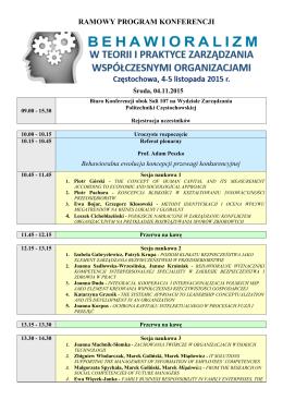 Program ramowy v.4