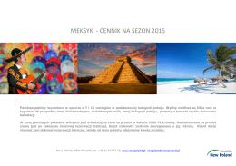 MEKSYK - CENNIK NA SEZON 2015