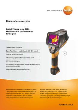 Kamera termowizyjna - Kamery termowizyjne Testo