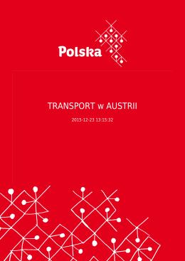 TRANSPORT w AUSTRII