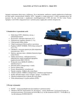 Seria EXEL od 715 kVA do 3025 kVA