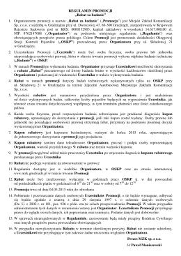 Pobierz regulamin - Miejski Zakład Komunikacji Sp. z o.o.