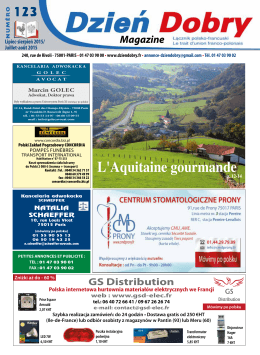 L`Aquitaine gourmande - Le trait d`union franco
