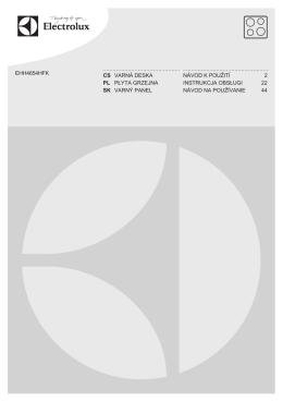ehh4654hfk cs varná deska návod k použití 2 pl płyta grzejna