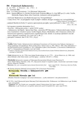 D4 Franciszek Salmonowicz - Dwa rody Salmonowicz i Jaxa