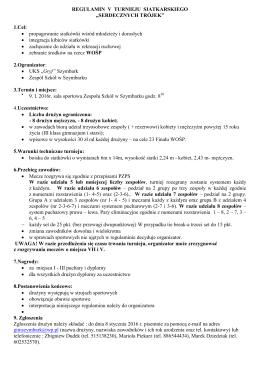 Regulamin Szymbarskiego WOŚP 2016 do pobrania w wersji