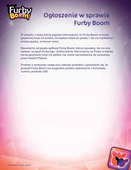 Ogłoszenie w sprawie Furby Boom