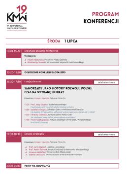 pobierz program PDF - 19 Konferencja Miasta w Internecie
