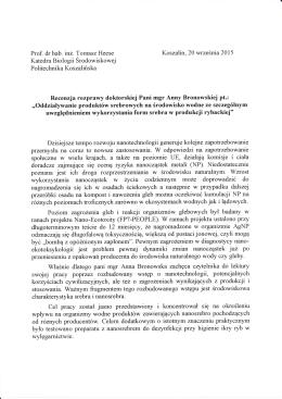 recenzja 2 - Wydział Nauk Biologicznych Uniwersytetu