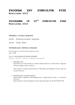 PROGRAM XXV SYMPOZJUM PTZE_v.2