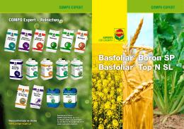 Basfoliar® Boron SP Basfoliar® Top N SL