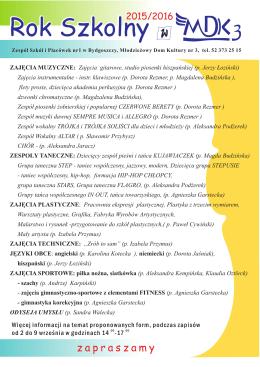 Lista zajęć MDK-3