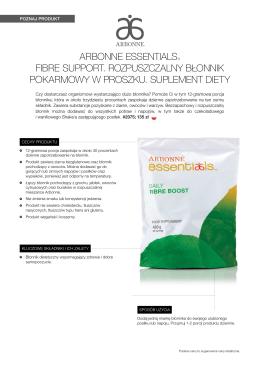 arbonne essentials® fibre support. rozpuszczalny błonnik