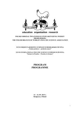 program programme - Polski Oddział Światowego Stowarzyszenia