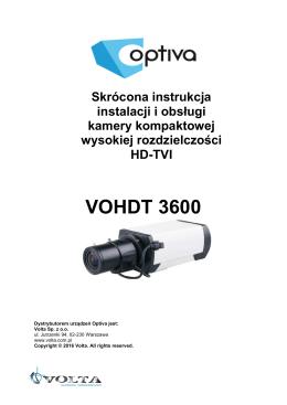 Instrukcja VOHDT3600
