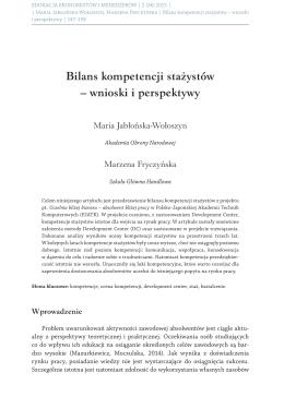 Bilans kompetencji stażystów – wnioski i perspektywy