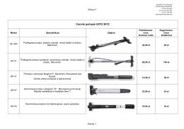 Arkusz1 Strona 1 Cennik pompek GIYO 2015