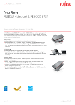 Data Sheet FUJITSU Notebook LIFEBOOK E734