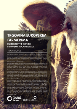 trgovina europskim farmerima - Friends of the Earth Europe