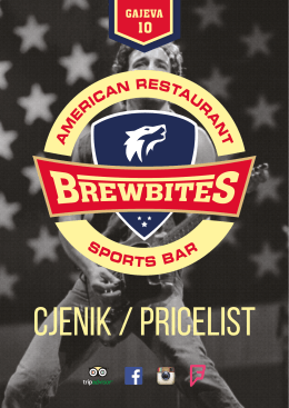 Pricelist - Brewbites - American restaurant / sports bar