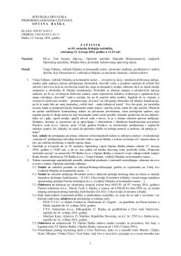 Zapisnik – 69. sastanka Kolegija načelnika