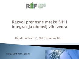 Razvoj prenosne mreže BiH i integracija obnovljivih izvora