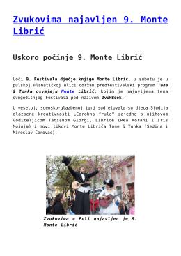 Zvukovima najavljen 9. Monte Librić