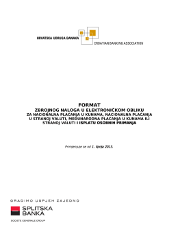 Format zbrojnog naloga u elektroničkom obliku
