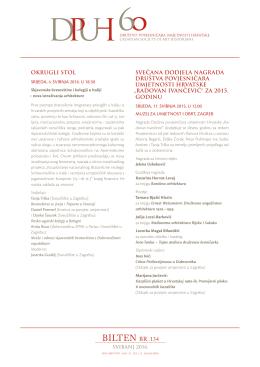 bilten br. 134 - Društvo povjesničara umjetnosti Hrvatske
