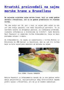 Hrvatski proizvođači na sajmu morske hrane u Bruxellesu